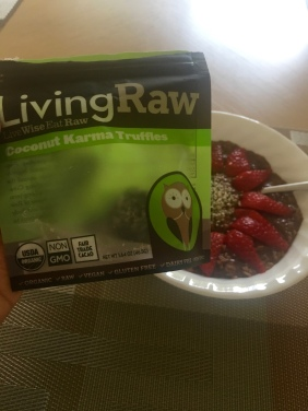 Living Raw Cococnut Karma Truffles! Thank you Yogi Surprise Box!